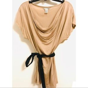 Tops - Cream/Blush Top with Tie Size M